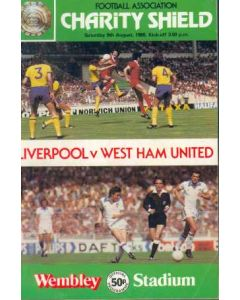 1980 Charity Shield Official Programme Liverpool v West Ham United