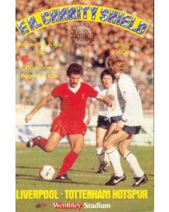 1982 Charity Shield Official Programme Liverpool v Tottenham Hotspur 21/08/1982