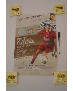 In the USA - Celtic v Liverpool Championsworld poster 26/07/2004