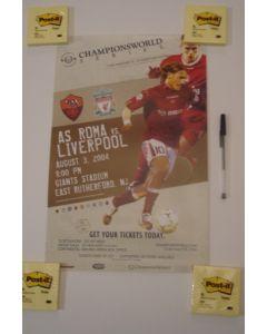 In the USA - Roma v Liverpool Championsworld poster 03/08/2004
