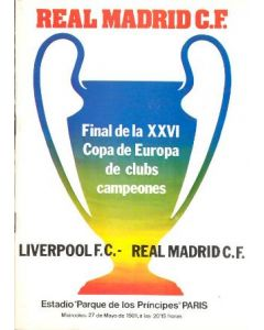 1981 European Cup Final Real Madrid v Liverpool Real Madrid Issue MEGA RARE