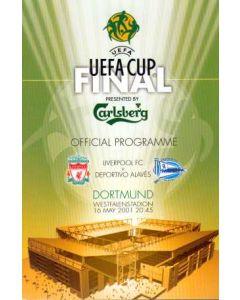 2001 UEFA Cup Press Pack Liverpool V Alaves