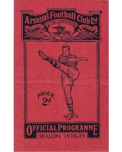 1939 Arsenal v Liverpool Football Programme