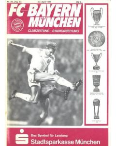 1981 European Cup Semi-Final Bayern Munich v Liverpool official programme 22/04/1981 Rare!