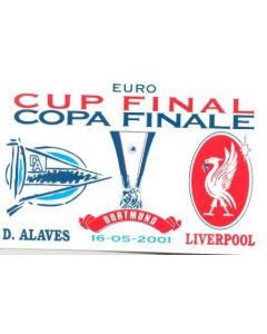 Sticker Euro Cup Final D. Alaves v Liverpool on 16/05/2001 in Dortmund, Germany