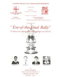 1992 Liverpool v Sunderland FA Challenge Cup Final 09/05/1992 Eve-of-the-Final-Rally programme