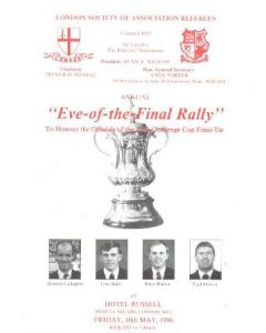 1996 Liverpool v Manchester United FA Challenge Cup Final 11/05/1996 Eve-of-the-Final-Rally programme