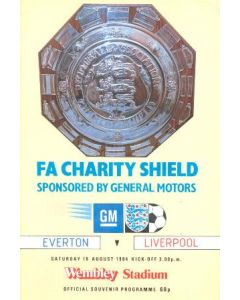 1984 Charity Shield Official Programme Everton v Liverpool 18/08/1984