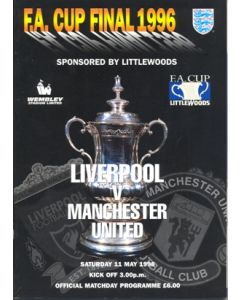 1996 FA Cup Final Liverpool v Manchester United