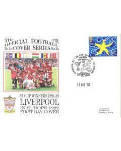 Liverpool - FA Cup Winners in Europe First Day Cover 13/10/1992