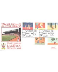 Season's Greetings from Liverpool on Centenary Year First Day Cover of 28/10/1996