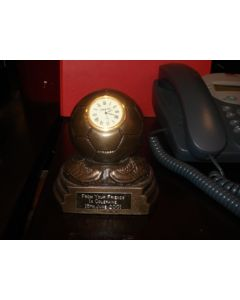 Awarded to Alan Kennedy Cup desk clock, signed: 'From Your Friends In Coleraine 15th June 2001'