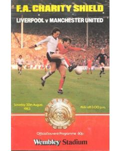 1983 Charity Shield Official Programme Liverpool v Manchester United 20/08/1983