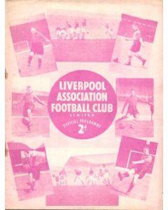 Liverpool v Preston North End official programme 31/12/1938