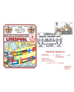 Liverpool - European Champions Again - First Day Cover 30/09/1981