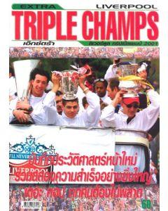 Liverpool - Triple Champs 2001 - Thai magazine