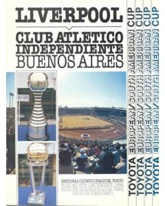 1984 Club World Championship Official Programme Club Atletico Independiente Buenos Aires v Liverpool