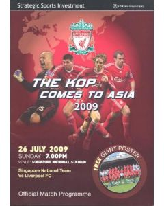 Singapore National Team v Liverpool official programme 26/07/2009 incl. a large colour poster