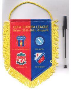 Steaua Bucharest, Liverpool, Naples and Utrecht pennant of Europa League 2010-11, Group K